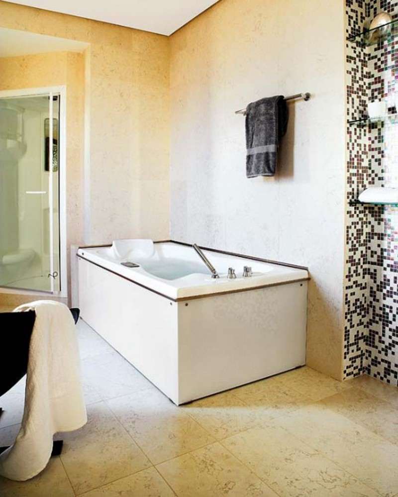 tub and shower for modern luxury home interior design ideas